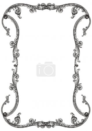 Illustration for Old frame in vintage style - Royalty Free Image