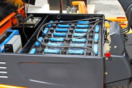 Photo pour Module de batterie modifiable pour le transport commercial de chariot élévateur - image libre de droit