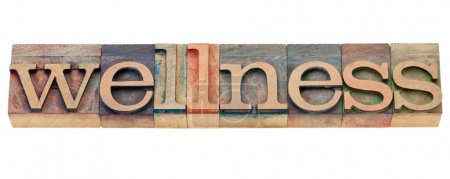 Photo for Wellness - isolated word in vintage wood letterpress type - Royalty Free Image