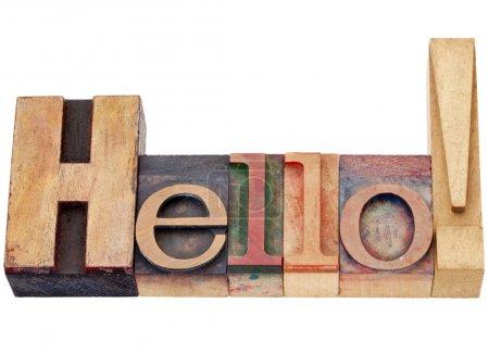 Hello in letterpress time