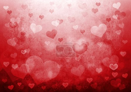 Photo for Valentine's day background with hearts. - Royalty Free Image