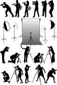 Photo accessories - studio equipment working with vectors