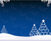 Christmas winter background vector illustration