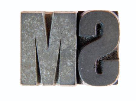 Lead: old letterpress type
