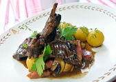 Stewed rabbit with potatoes