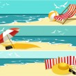 Three summer banners - vector background...