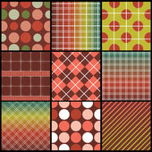 9 Colorful Abstract Pattern Backgrounds Vector Design