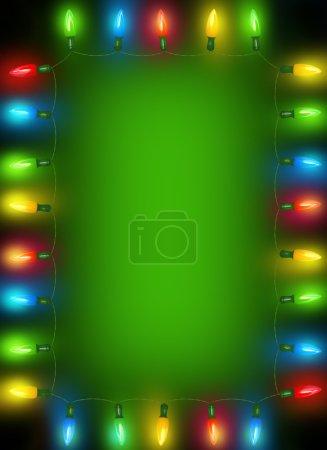 Photo pour Cadre de lumières de Noël - image libre de droit