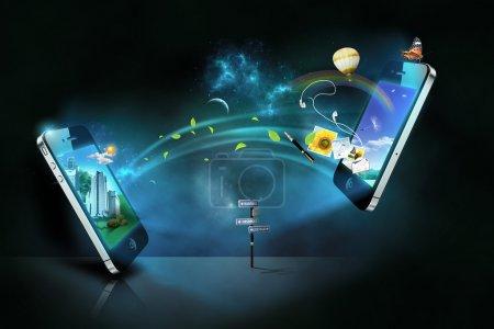 Photo pour Concept technologique téléphone intelligent - image libre de droit