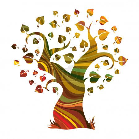 Illustration for Multicolour abstract tree. Vector illustration - Royalty Free Image