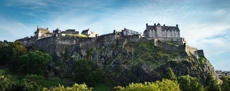 Photo for Edinburgh castle wide panoramic shot, Scotland, UK - Royalty Free Image