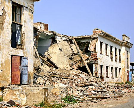 Photo for Destruction caused by an earthquake - Royalty Free Image