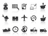 Set of logistics and shipping icons