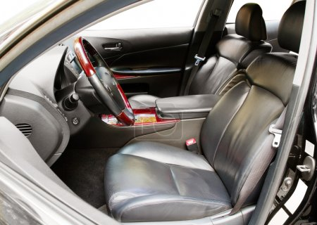 Interior of a luxury car