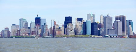 Photo pour New York City downtown et Manhattan skyline panorama, États-Unis - image libre de droit