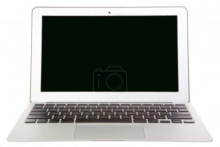 Photo for Modern laptop isolated on white - Royalty Free Image