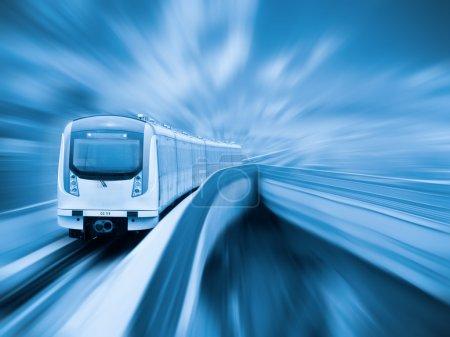City metro in motion
