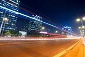 Traffic at night in beijing