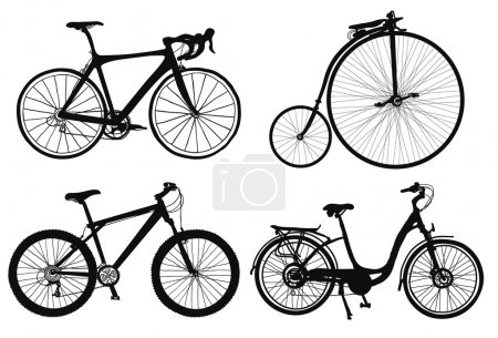 Four bicycles.