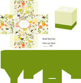 Favor box die cut Naturel pattern Empty label