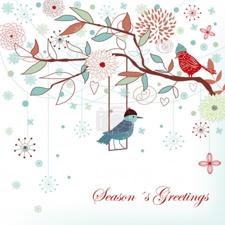 Illustration for Seasons greetings background - Royalty Free Image