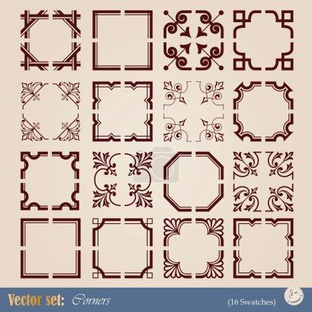Vector set corners