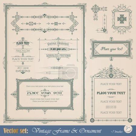 Photo pour Cadre Vintage, ornement et élément de décoration et design - image libre de droit