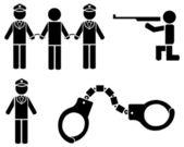 Black police icons