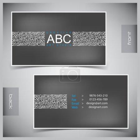 Illustration pour Vecteur abstraites créatives des cartes de visite (ensemble modèle) - image libre de droit