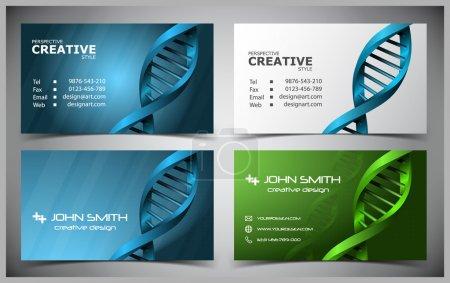 Illustration pour Cartes de visite créatives abstraites vectorielles (modèle fixe) - image libre de droit