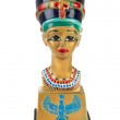 Famous buste from Nefertiti in Eqypt on white back...