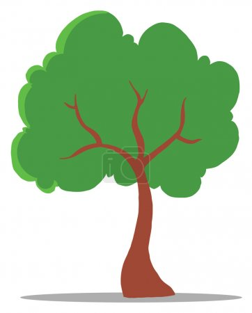 Green Tree Cartoon Character