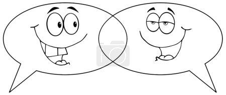 Photo pour Parlent de dessin animé décrit phylactères - image libre de droit