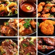 Collection of different meat dishes - soup, schnit...