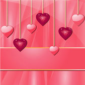 Pink valentine hearts and banner