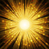 Golden light explosion background