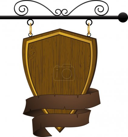 Wooden pub or cafe sign