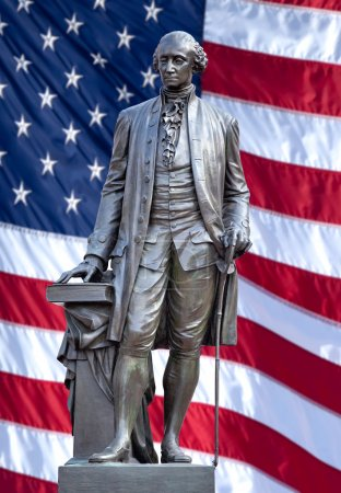 Statue of George Washington.