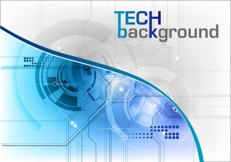 Illustration for Tech background in the blue - Royalty Free Image