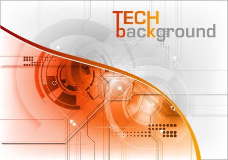 Photo for Technical background with orange line - Royalty Free Image