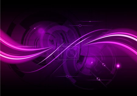 Illustration for Purple abstract background with wave - Royalty Free Image