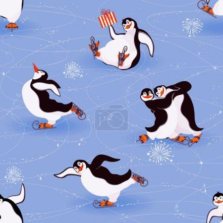 Penguins skating