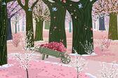 Spring pink forest