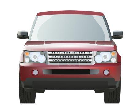 Illustration pour SUV rouge cher dans le vecteur - image libre de droit