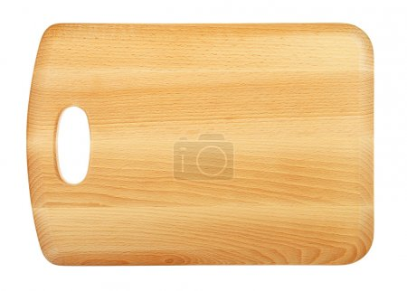 Photo for Wooden Chopping Board Isolated on White - Royalty Free Image
