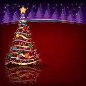 Pozdrav vánoční strom