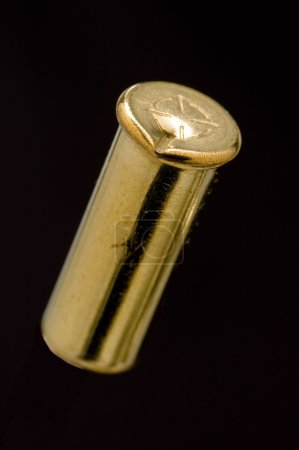Used .22 LR shell casing