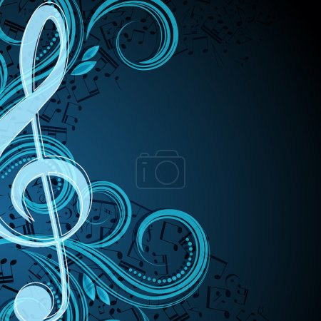 Notes musical background