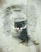 Bank with poison A dangerous liquid sketch