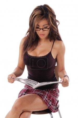 Sexy Woman Reading